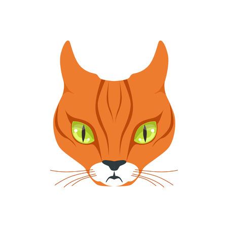 Beautiful red cat, cartoon animal character vector illustration Illustration