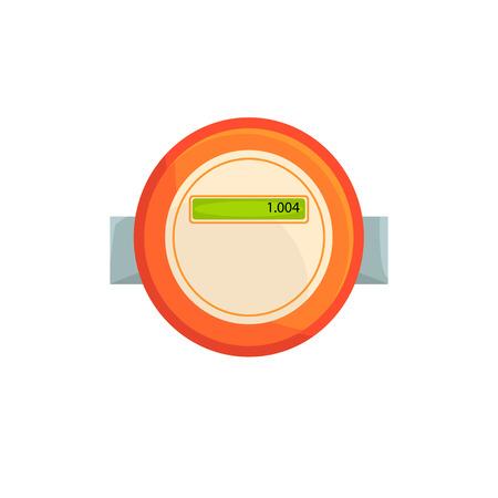 Electric meter, household measuring device vector illustration Vektorové ilustrace