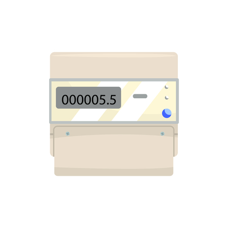 Electronic measuring counter, household measuring device vector illustration