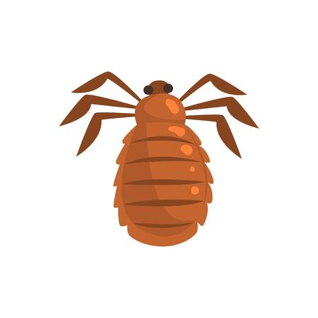 Luis insecten parasiet cartoon vector illustratie