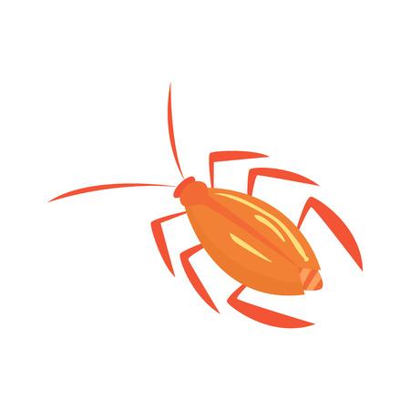 Ilustración de vector de dibujos animados de insectos cucaracha Ilustración de vector