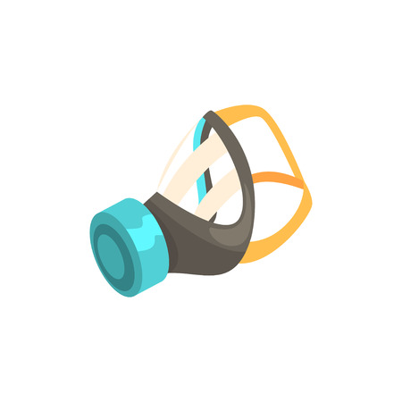 Respirator, protective equipment cartoon vector illustration Illustration