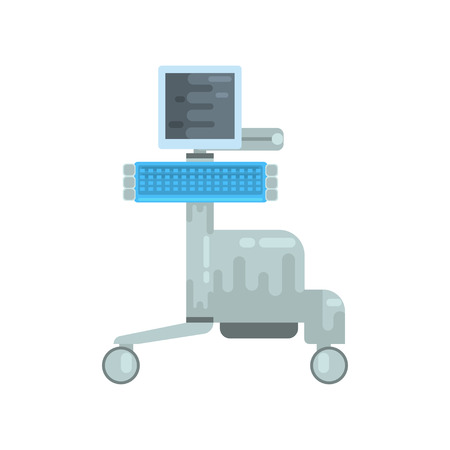 Ultrasound diagnostic machine, medical equipment vector Illustration