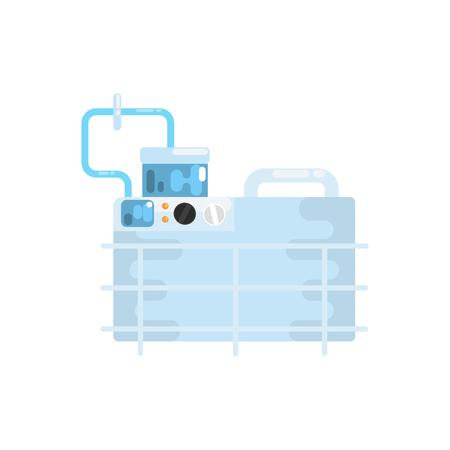 Apparatuur voor longventilatie, medische apparatuur vector illustratie Stock Illustratie