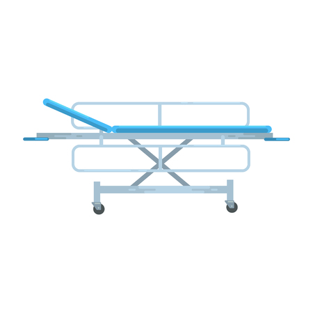 Adjustable mobile hospital bed , medical equipment vector Illustration