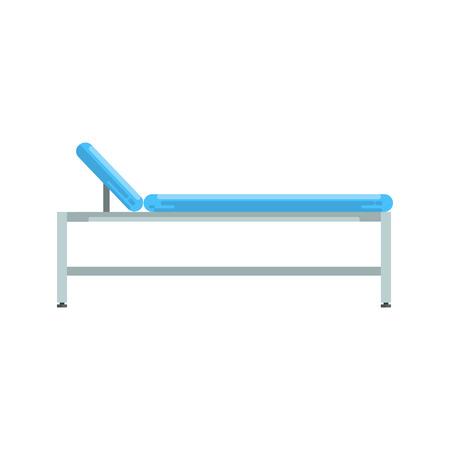 Hospital bed, medical equipment vector Illustration