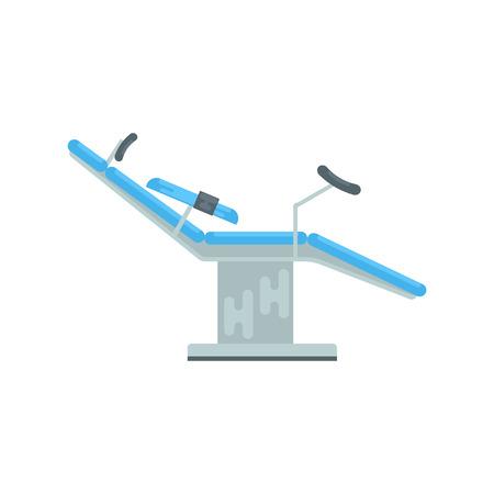 Gynecological chair, medical equipment vector Illustration Çizim
