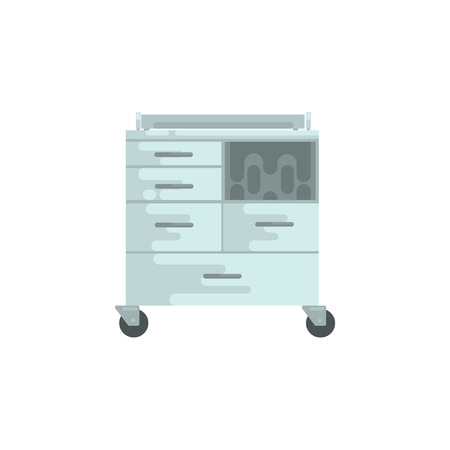 Medical equipment, chest of drawers vector Illustration