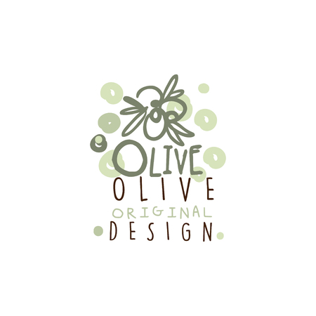 Vector Image Of Some Olives Hand Drawn With Leaves vector illustration Banco de Imagens - 87228008