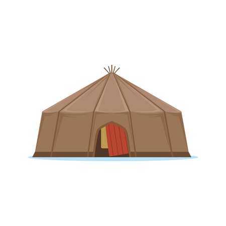 Yaranga, traditional house of north people vector Illustration
