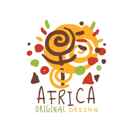 Original african logo of stylized sunshine