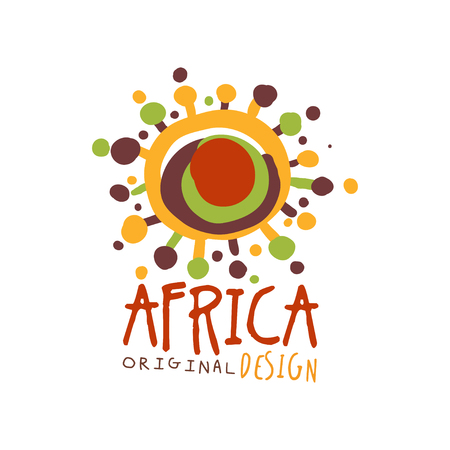 Original african abstract logo template Illustration