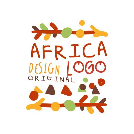 African ethnic hand drawn ornament with arrows