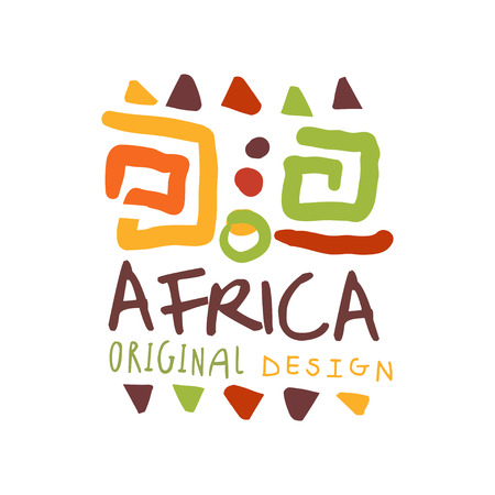 African style logo with ancient tribal symbols