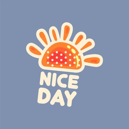 day: Flat design social network sticker