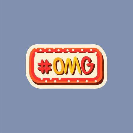 Flat design social network sticker