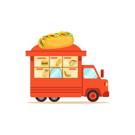 Comida callejera plana con comida rápida Foto de archivo - 87567549