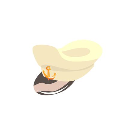海軍キャプテン帽子ベクトル図
