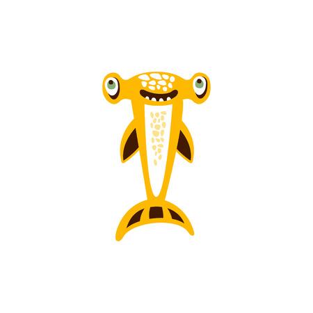 귀상어 상어 물고기 손으로 그려진 된 벡터 일러스트 스톡 콘텐츠 - 87782701