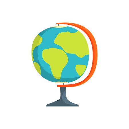 School geography globe cartoon vector Illustration