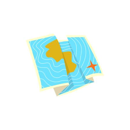 Illustrazione di vettore del fumetto della mappa di mare Archivio Fotografico - 88000654