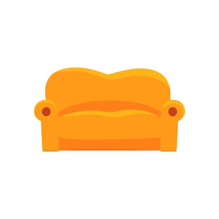 Sofa furniture for relaxation cartoon vector Illustration