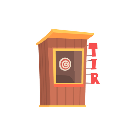 Shooting gallery booth, tir cartoon vector Illustration Illustration
