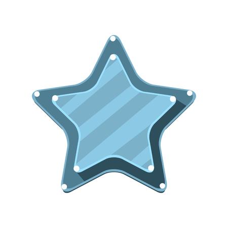 青い漫画の星ベクトル イラスト白背景に分離
