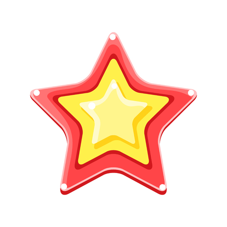 Helder gekleurde cartoon ster vector illustratie geïsoleerd op een witte achtergrond Stockfoto - 88085618
