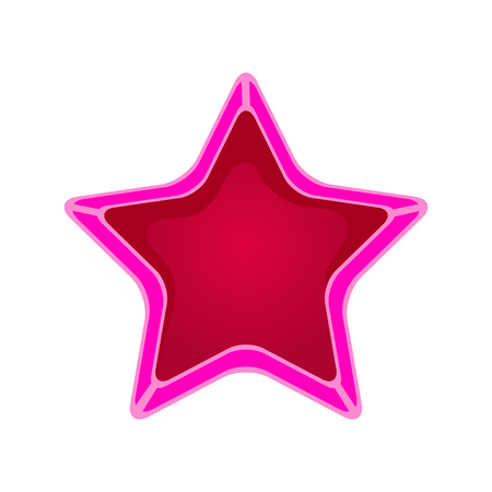 Pink cartoon star vector Illustration isolated on a white background Illustration