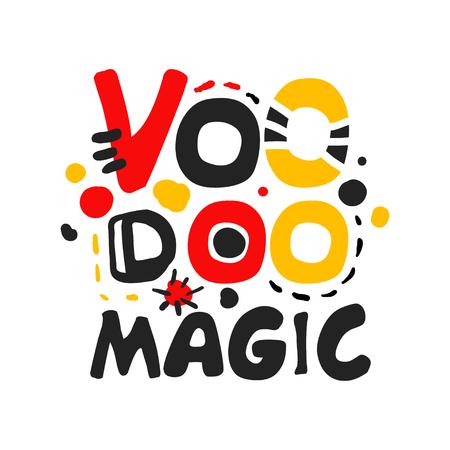 Original Colorful Design Of Voodoo African And American Magic