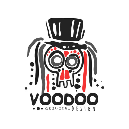 Voodoo African and American magic skull with head