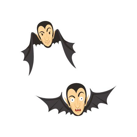 Count Dracula flying as a bat Ilustração