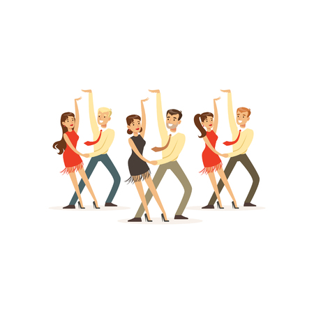 Dancers of latin american dance Illustration