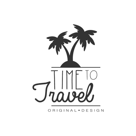 Travel logo design with palm trees