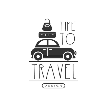 Typographic design logo for tourist agency Çizim