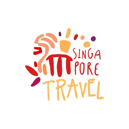 シンガポール マリーナ ベイ サンズ ロゴデザインへの旅行します。 写真素材 - 88257612
