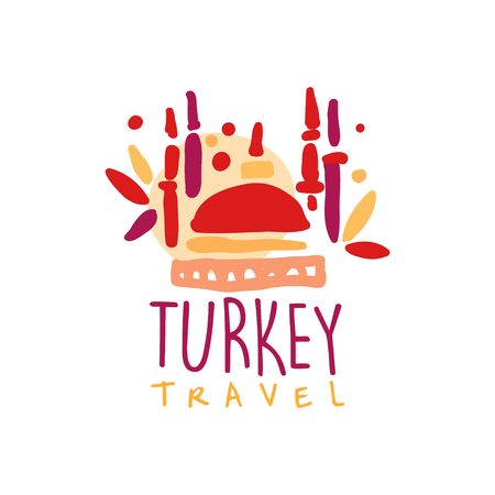 Travel to Turkey logo with traditional mosque