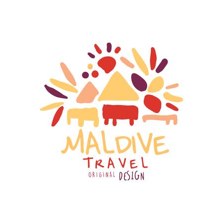 Travel to Maldive logo design for travel agency