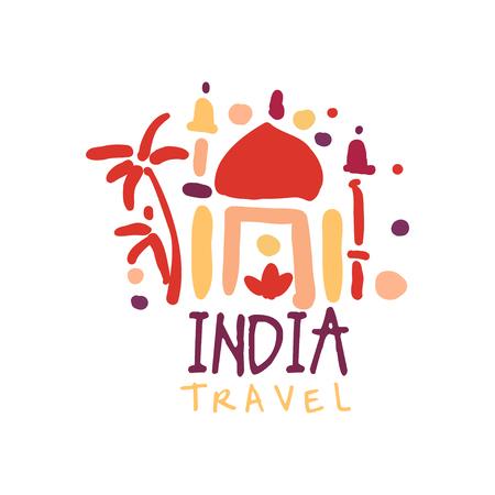Travel to India logo with Taj Mahal