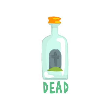 Finanzanzeige auf der Unterseite der riesigen Alkoholflasche, schlechte Gewohnheit, Alkoholismuskonzept-Karikatur-Vektor Illustration Standard-Bild - 88339266