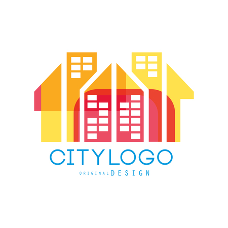 City  original design, abstract city building concept colorful vector Illustration