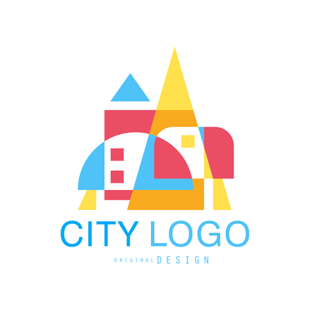 City   modern design of real estate and city building colorful vector Illustration