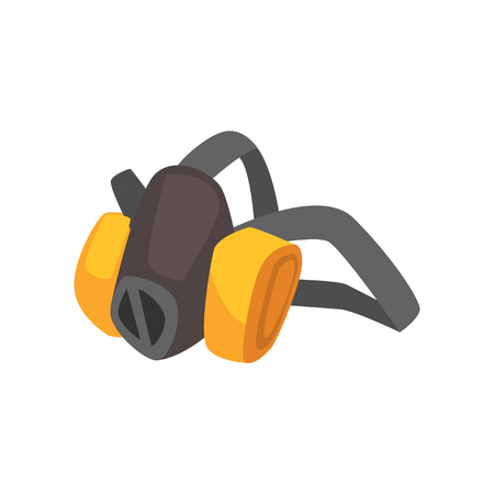 Máscara de polvo protectora de mineros de dibujos animados Foto de archivo - 88884336