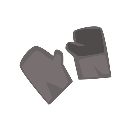 Cartoon miners protective gloves