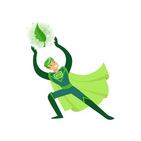 Eco superheroe aplica su poder sobrenatural