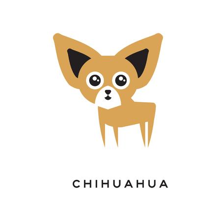 白い背景で隔離の漫画チワワ子犬のキャラクター 写真素材 - 89146905
