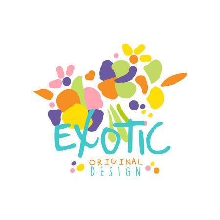 Bright scribble exotic logo design vector illustration. Illusztráció