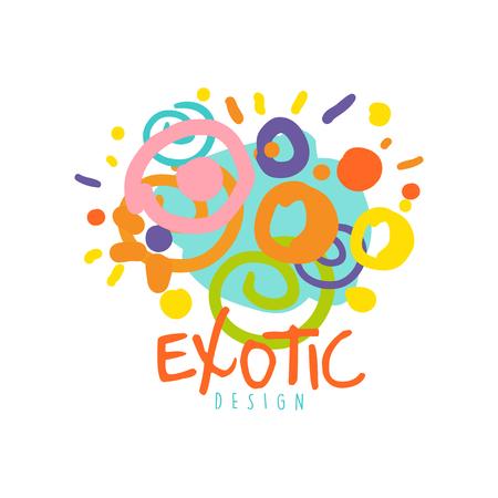 Exotic logo design template tour operator vector illustration.