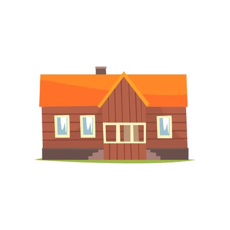 ファームハウス, 農村のコテージ漫画ベクトルイラスト
